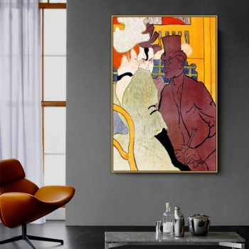 Henri de Toulouse-Lautrec Old Famous Master Artist The Englishman Painting Poster Print for Room Decoration Wall Artwork image