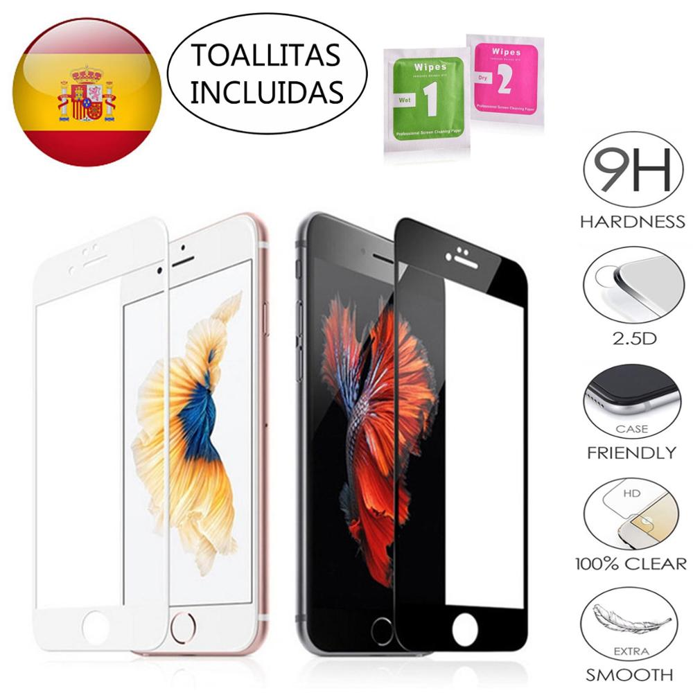 FULL PROTECTOR SCREEN TEMPERED GLASS 'S FOR IPHONE 7 Or 8 In Black Or White