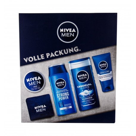 NIVEA FOR MEN 150ML CREAM SHAMPOO 250ML + 250ML + GEL 75ML + HIDRATANTE