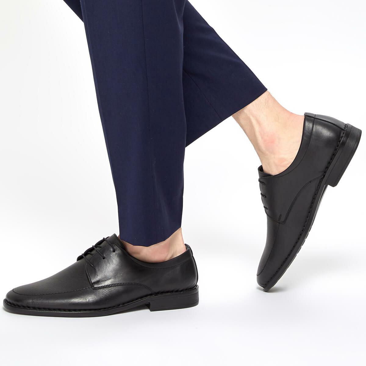FLO 91.100562.M Black Men 'S Classic Shoes Polaris 5 Point