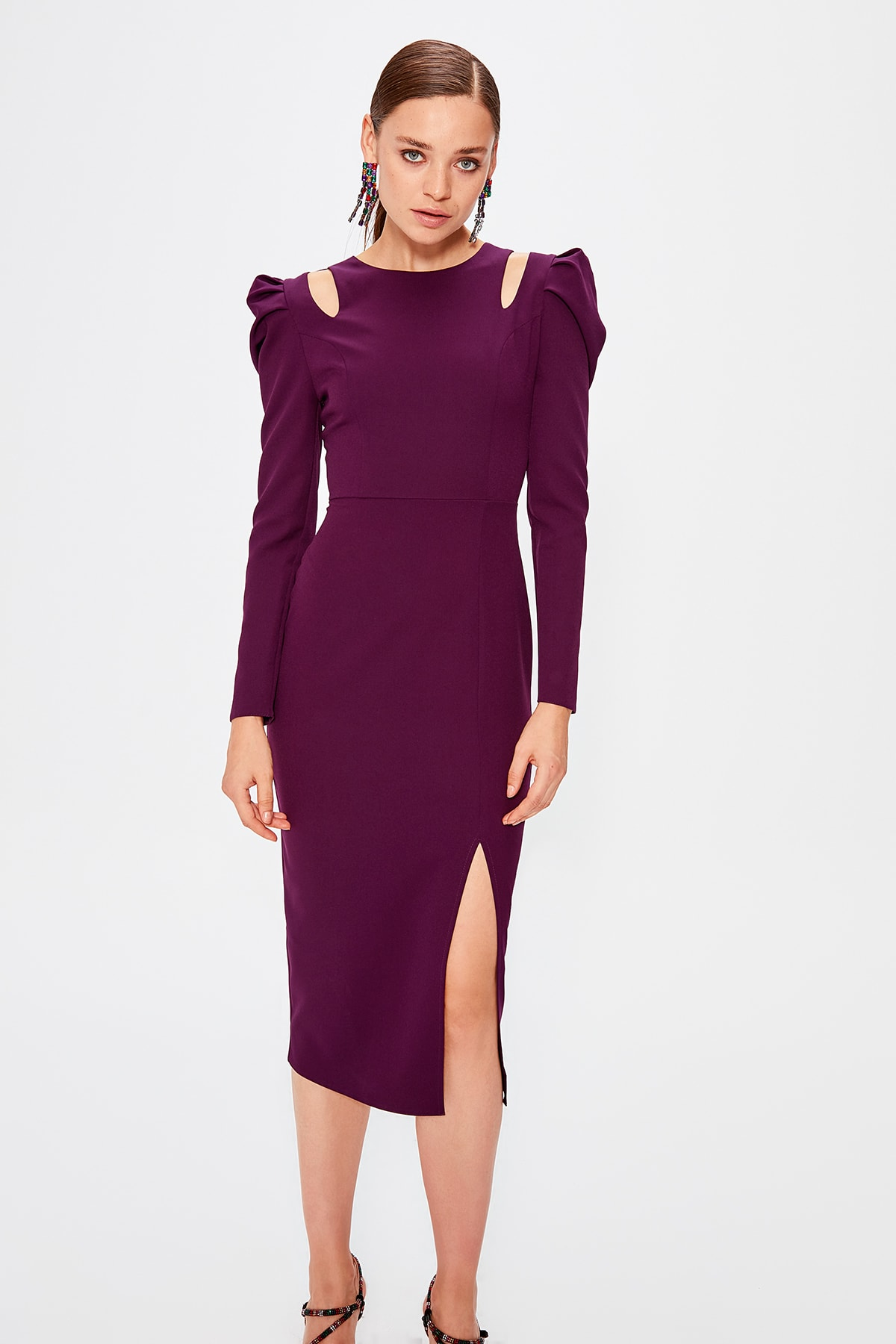Trendyol Shoulder Detayalı Dress TPRAW20EL0537