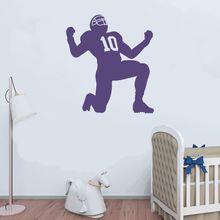 Football Player Winning Gesture Wall Sticker Decal Soccer  Sports Sticker Home Livingroom Wall Art Decoration A0068423 3d soccer player and goal wall art sticker decal