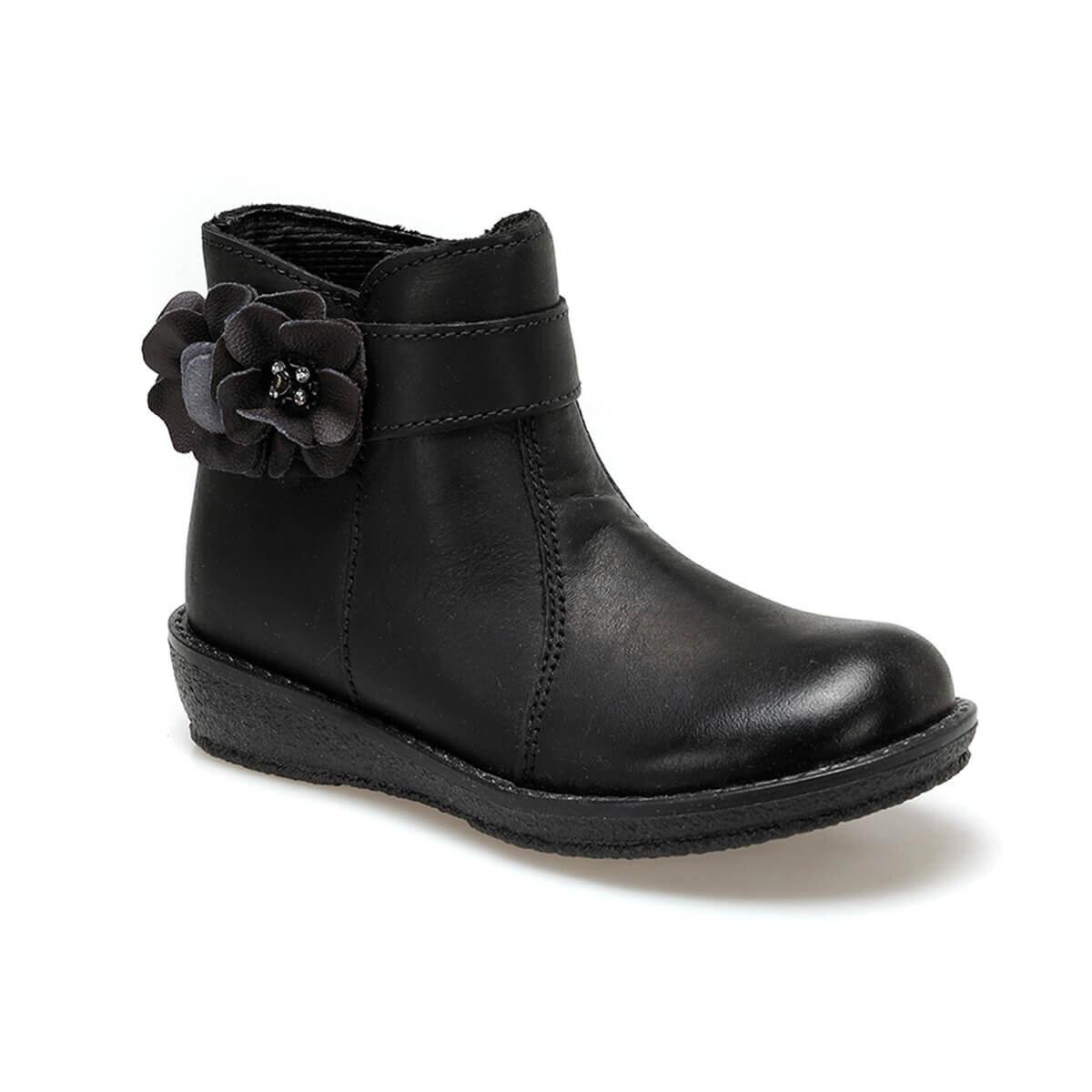 FLO 2323D4-S Black Female Child Boots Kifidis