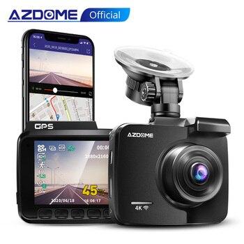 AZDOME GS63H Dash Cam Dual Lens 4K UHD Recording Car Camera DVR Night Vision WDR Built-In GPS Wi-Fi G-Sensor Motion Detection