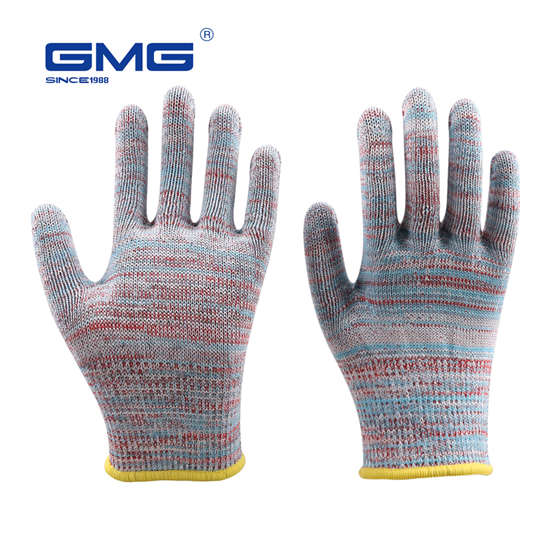 Cut Resistant Gloves Hot Sale GMG Multicolor HPPE EN388 ANSI Anti-cut Level 5 Anti Cut Gloves Cut Proof Protective