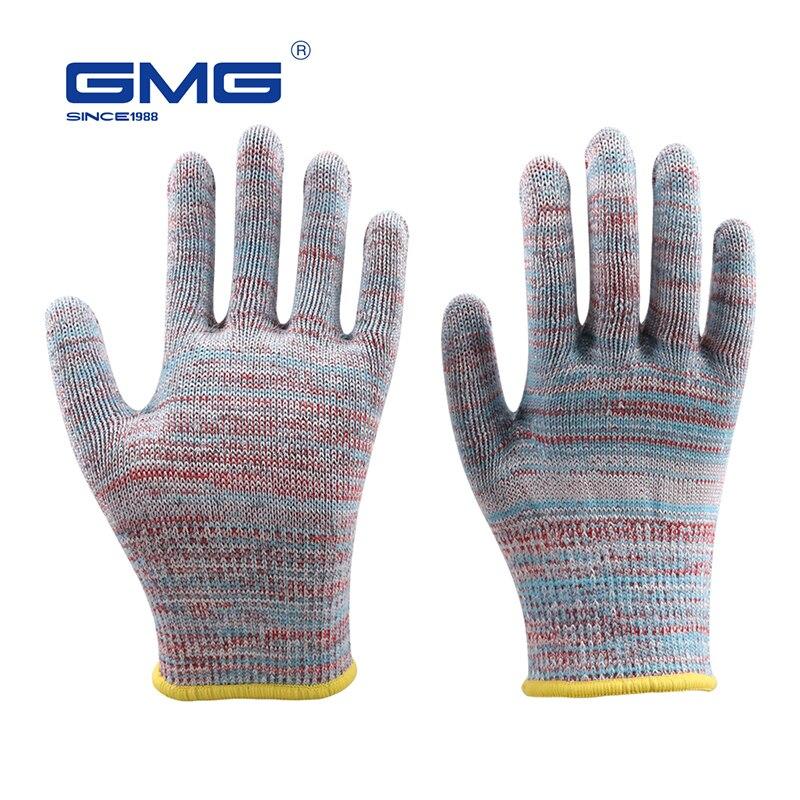 Cut Resistant Gloves Hot Sale GMG Multicolor HPPE EN388 ANSI Anti-cut Level 5 Anti Cut Gloves Cut Proof Protective
