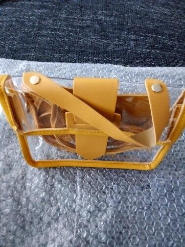 Transparent Candy Color Handbag
