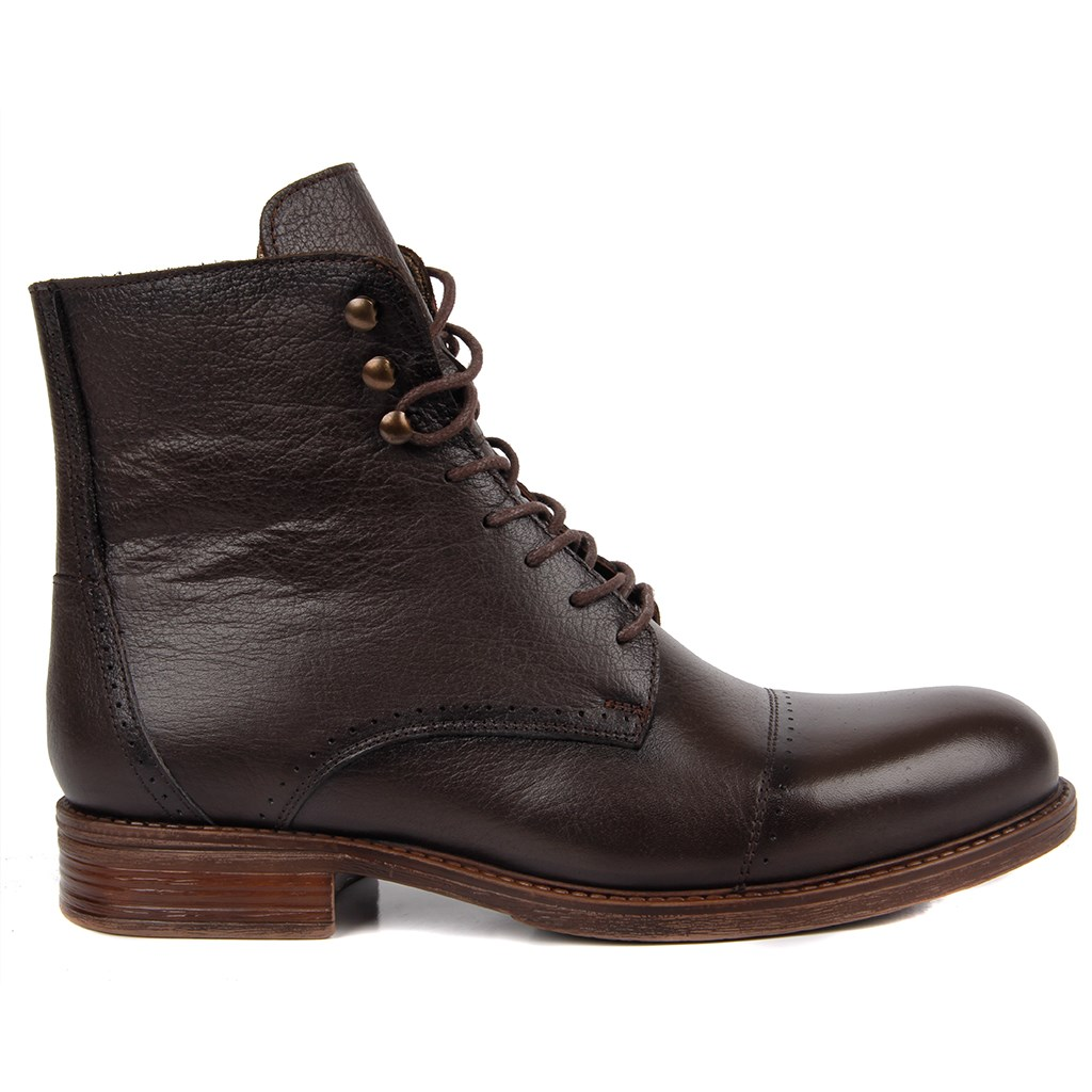 Sail-Lakers Genuine Leather Men Boots Zipper Lace-up Autumn Winter
