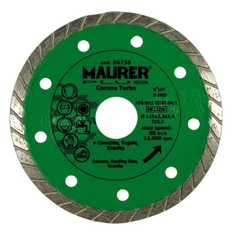 Diamond Maurer Continuous Turbo Cement, Tiles, Granite 115mm.
