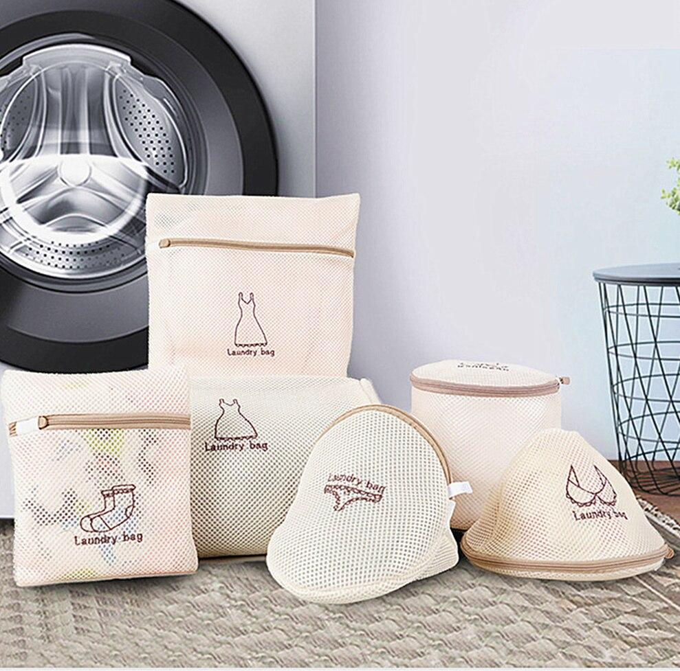 3 Màu Thêu Túi Giặt Bảo Vệ Đồ Lót Áo Ngực Tất Chuyên Dụng Giặt Túi Dây Kéo Lưới Lót Áo Ngực Giặt Rửa Túi title=