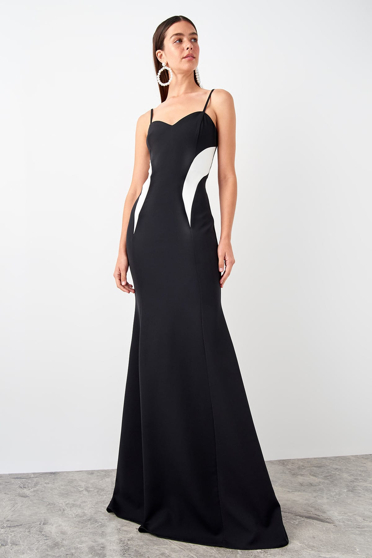 Trendyol Depletory Effect Evening Dress TPRSS19AE0070