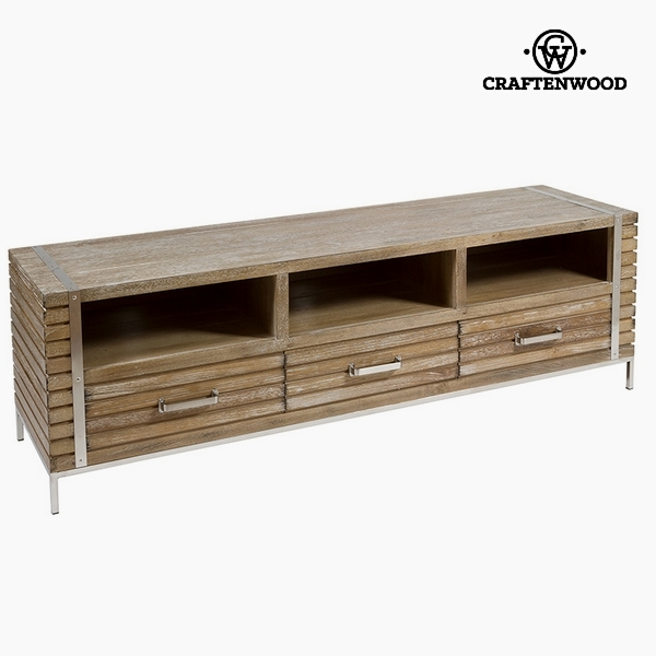 Meuble TV Teck (3 tiroirs) (160 x 45 x 51 cm) by Craftenwood