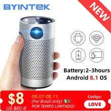 BYINTEK P7 projecteurs de poche Portable Pico intelligent android wifi 1080P 4K TV LAsEr Mini LED cinéma maison cinéma téléphone DLP projecteur