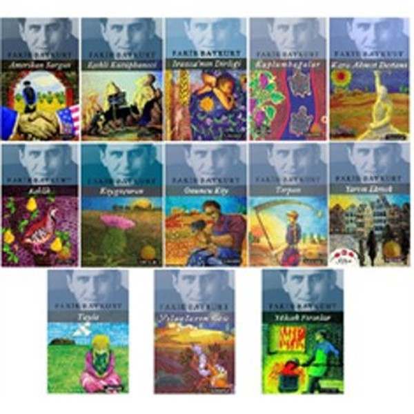 Poor Baykurt Novels Set-14 Book Suit Poor Baykurt Literature Publishing (TURKISH)