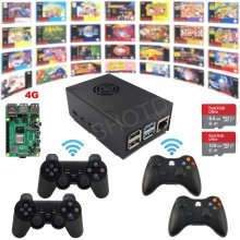 Game-Kit Assembled-Plug Raspberry Pi Play Wireless Retro 4G 4-Model Fully-Loaded