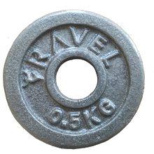 2 pesos do disco do haltere dos pces 0.5 kg para o equipamento crossfit do levantamento de peso da aptidão barbell do exercício da força do músculo do gym