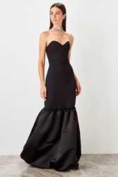 Trendyol атласное вечернее платье TPRSS19UT0199