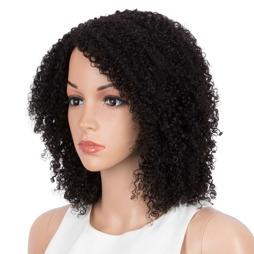 Kinky Curl Human Hair Wigs For Black Women 150% Density Remy Brazilian Full Curly Human Hair Wigs Cheap Curly Bob Wigs Allure