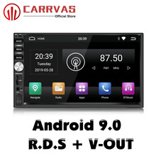CARRVAS 2 Din Android Head Unit 9.0 Car GPS Navigation Stereo 1080P Autoradio Quad Core Audio Radio Support RDS WIFI
