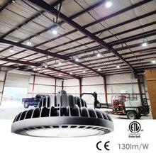 UFO High Bay Lighting Fixture LED Industrial GradeLight 100W 5000K-6500K 13000lm Commercial Warehouse Workshop Wet Location Area
