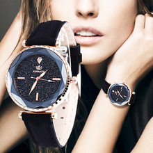 WJ-7979 2019 Best Sell Luxury Starry Sky Exquisite Dial Watch Women Leather Strap Quartz WristwatchTop Brand Watches For Female все цены