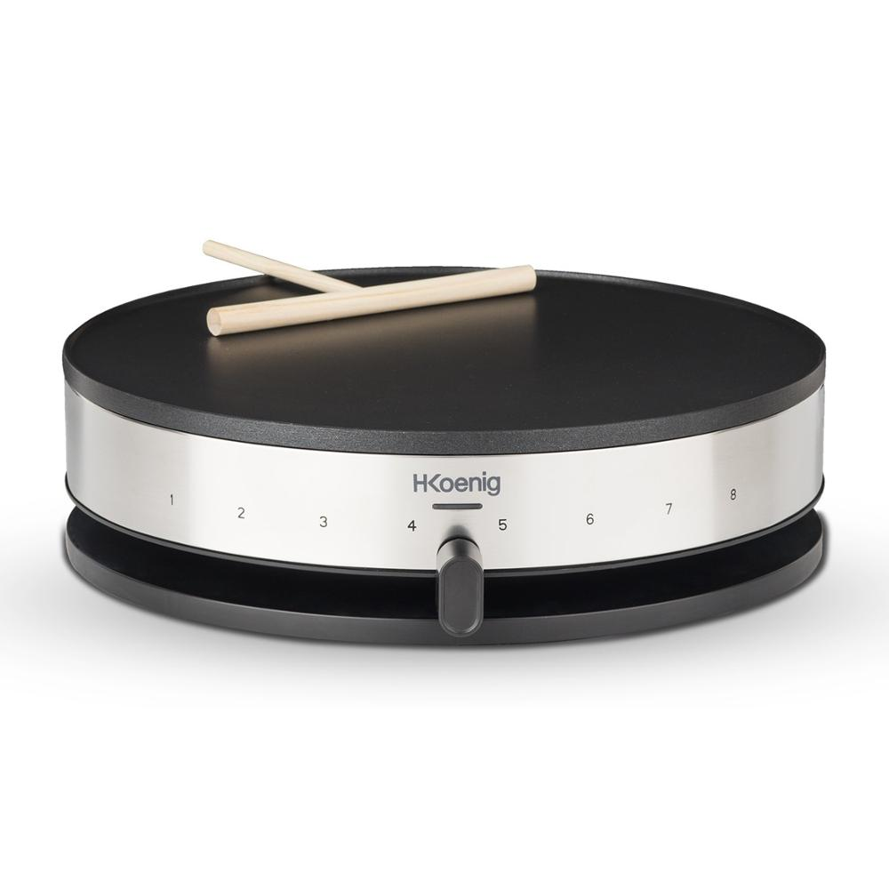 H. Koenig Krep29 Electric Crepe Maker 1300 W, Diameter 33 Cm, Ideal For Creps And Pancakes, 1300 W, Steel Stainless
