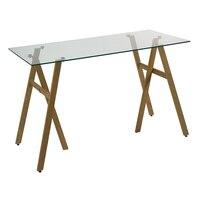 Desk (120 x 60 x 75 cm) Tempered glass Iron   -
