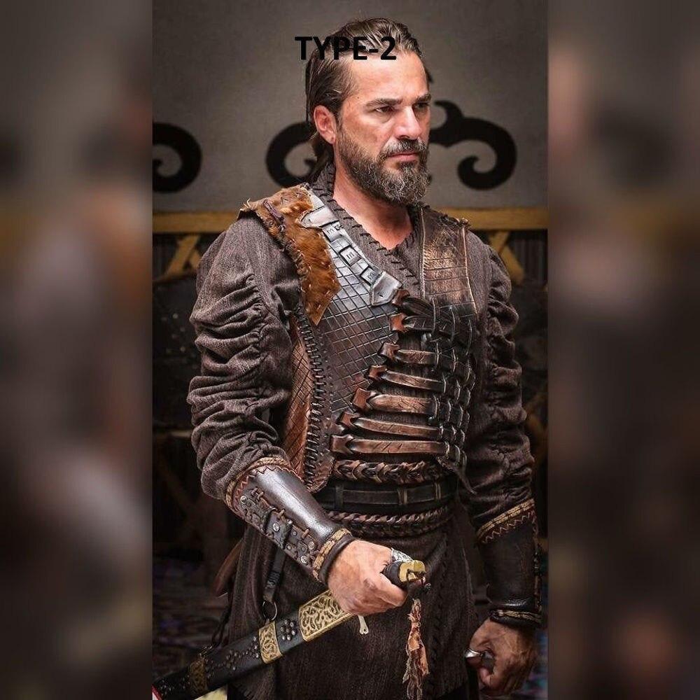 Resurrection Ertugrul Armor Costume Ottoman Turkish Armor Kaftan Shirt Pants Boot set ertugrul cosplay costume armor