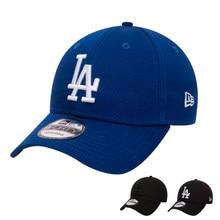 New Era 9FORTY - ORIGINAL Gorras para hombre De Beisbol LA Los Angeles Dodgers MLB, logo Bordado, Negra, Azul Marino, Ajustable