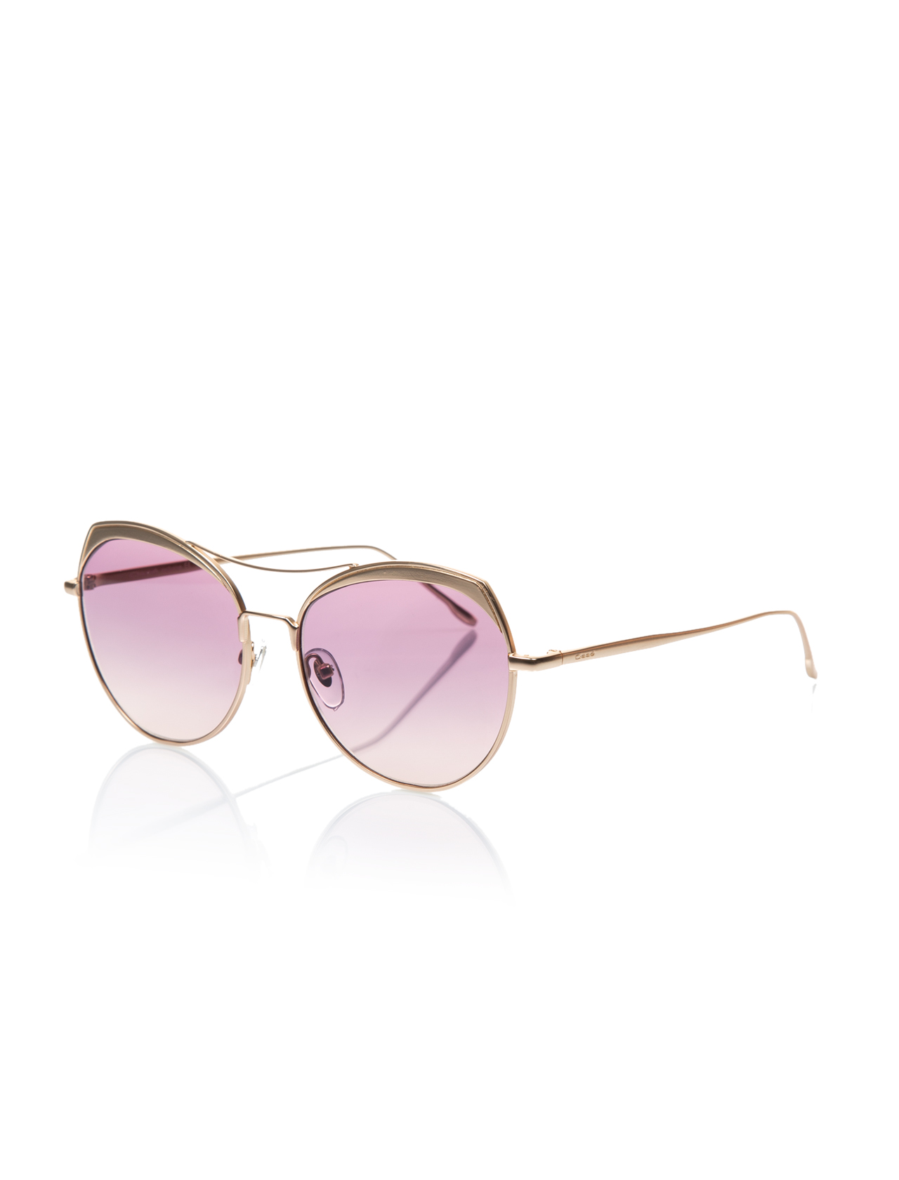 Women's sunglasses os 2633 03 metal gold organic oval aval 57-15-145 osse