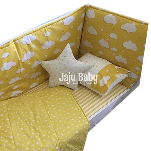 Jaju Baby Yellow Baby Duvet Cover Set and Crib Edge Protection