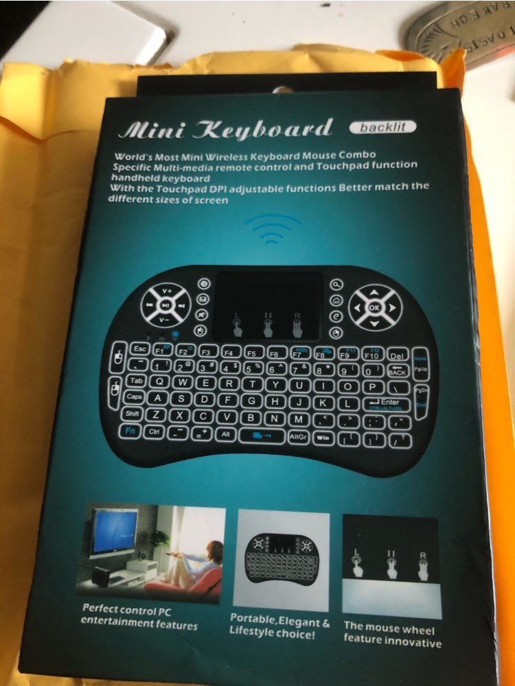 Mini 2.4G Wireless Keyboard Touchpad Color Backlit Air Mouse for Tv Box or Smart TV