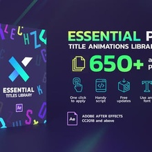 TypeX Essential Pack: Title Animation Presets Library – Download Videohive
