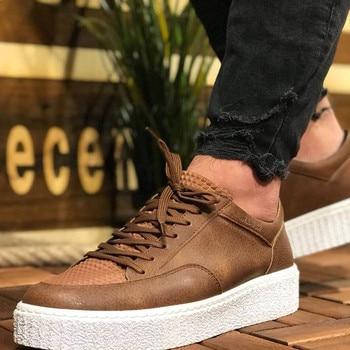 цена на Chekich CH017 IT Men 'S Shoes TAN. 100 Vegan 100 Cotton Shoe sneaker air van chaussure loafer trainer uomo money footwear