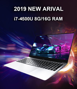 15.6 Inch Intel i7 Laptop 8GB/16GB RAM 512GB 1TB HDD Metal Body 1080P Windows 10 layout Keyboard Dual Band WiFi Gaming Laptop 1