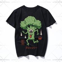 Забавные женские футболки yokai с брокколи повседневные мужские
