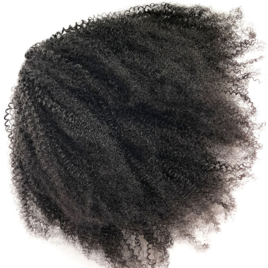 Fashion Lady Remy Hair  Afro Kinky Curly Drawstring Ponytails  Clip In Human Hair Ponytails