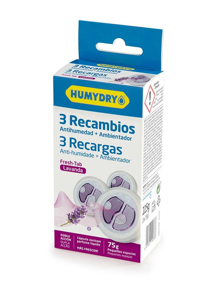 HUMYDRY Recambios Antihumedad Mini Tab 3x75g Lavanda