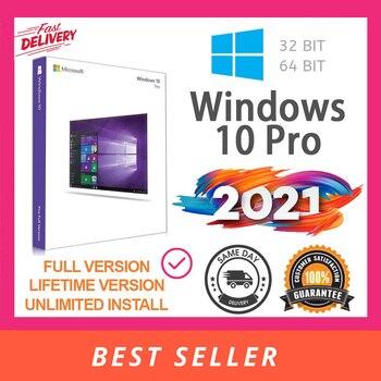 Microsoft Windows 10 Retail Pro Professional 32/64bit Genuine License Key Original Fast Delivery ms office pro plus 2019 genuine license 2 pc install