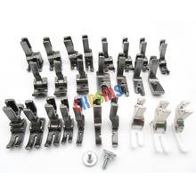 طقم قدم ضغط 25 قطعة مناسب لماكينة الخياطة JUKI BROTHER SINGER CONSEW ذات الشاق العالي # KP PF25