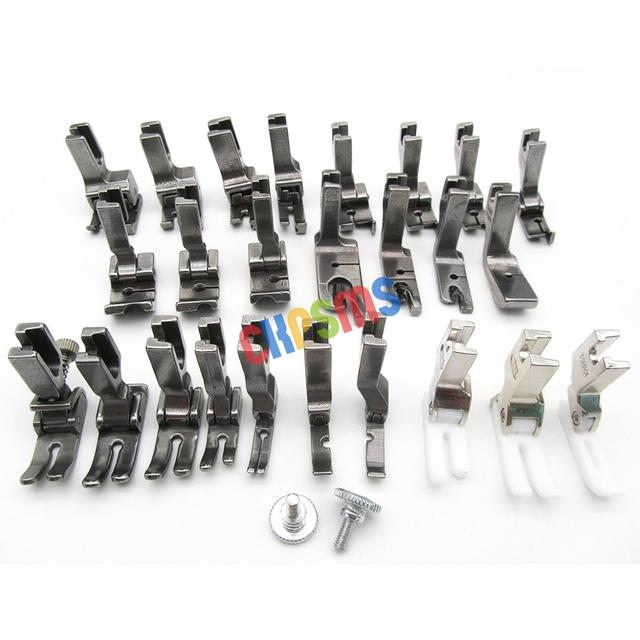 25PCS PRESSER FEET SET FIT FOR JUKI BROTHER SINGER CONSEW HIGH SHANK SEWING MACHINE #KP PF25