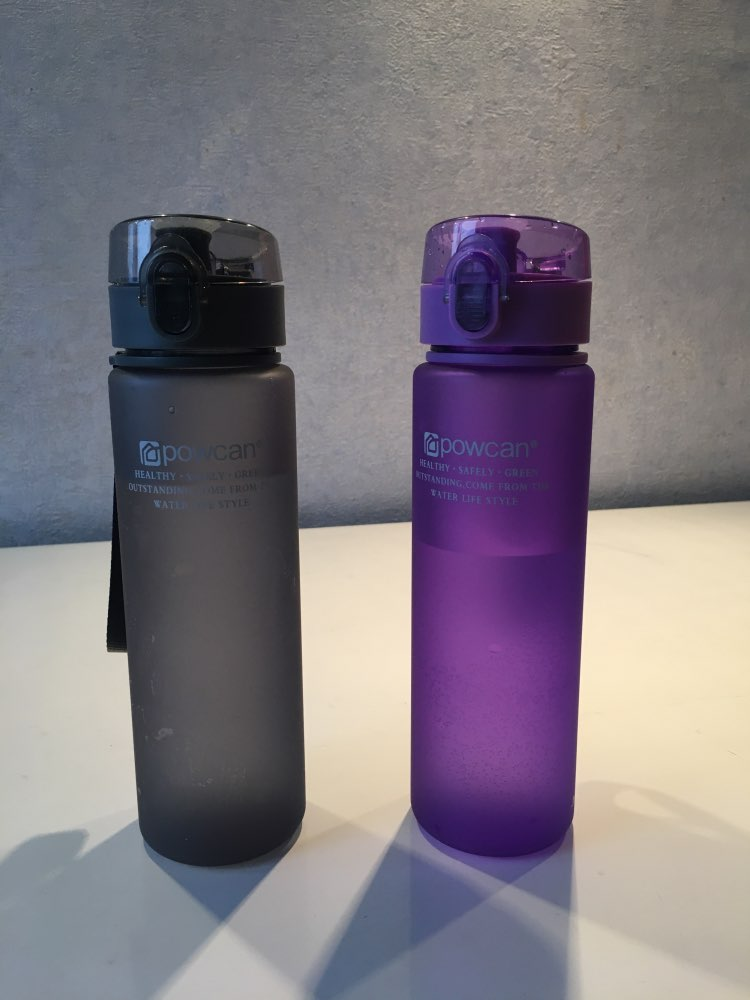 Plastic water bottles Hot water travel tea milk protein coffee kettle Explosion proof and leakproof sports travel cup reusable-in Water Bottles from Home & Garden on AliExpress