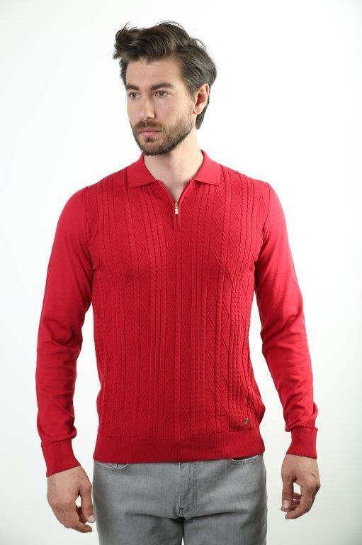 Filippo Ghada Polo Collar Male Sweater 4189