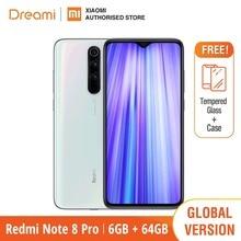 הגלובלי גרסת Xiaomi Redmi Note 8 PRO 64GB ROM 6GB RAM (חדש לגמרי/אטום), note8 פרו Smartphone נייד