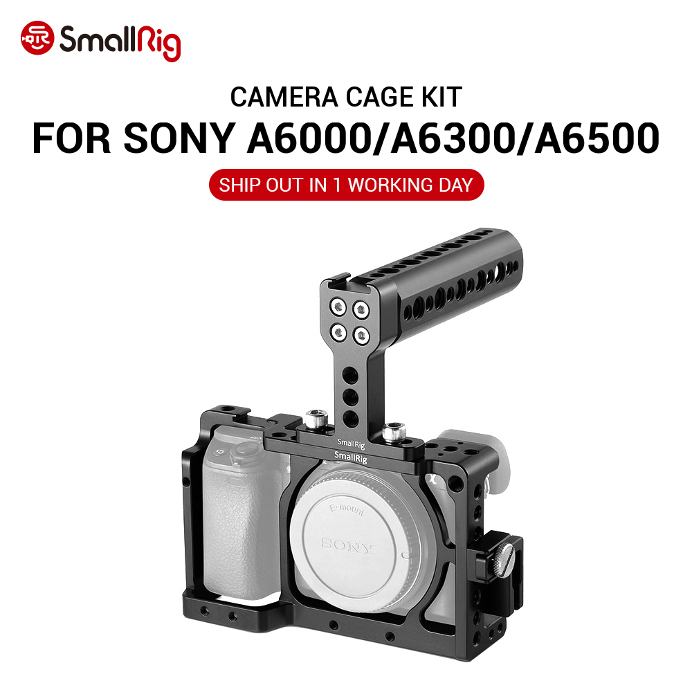 <font><b>SmallRig</b></font> A6300 Cage Camera Accessory Kit for SONY A6300 / A6000 / ILCE-6000 / ILCE-<font><b>6300</b></font> / NEX7 With Top Handle Grip - 1921 image