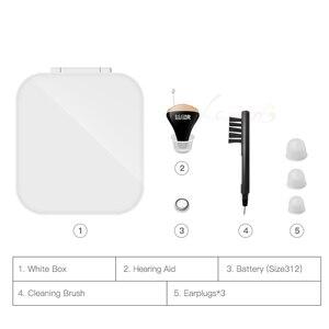 Image 5 - Jf1 melhor aparelhos auditivos cic digital aparelho auditivo amplificador de som no ouvido portátil invisível bateria sênior 312 dropshipping