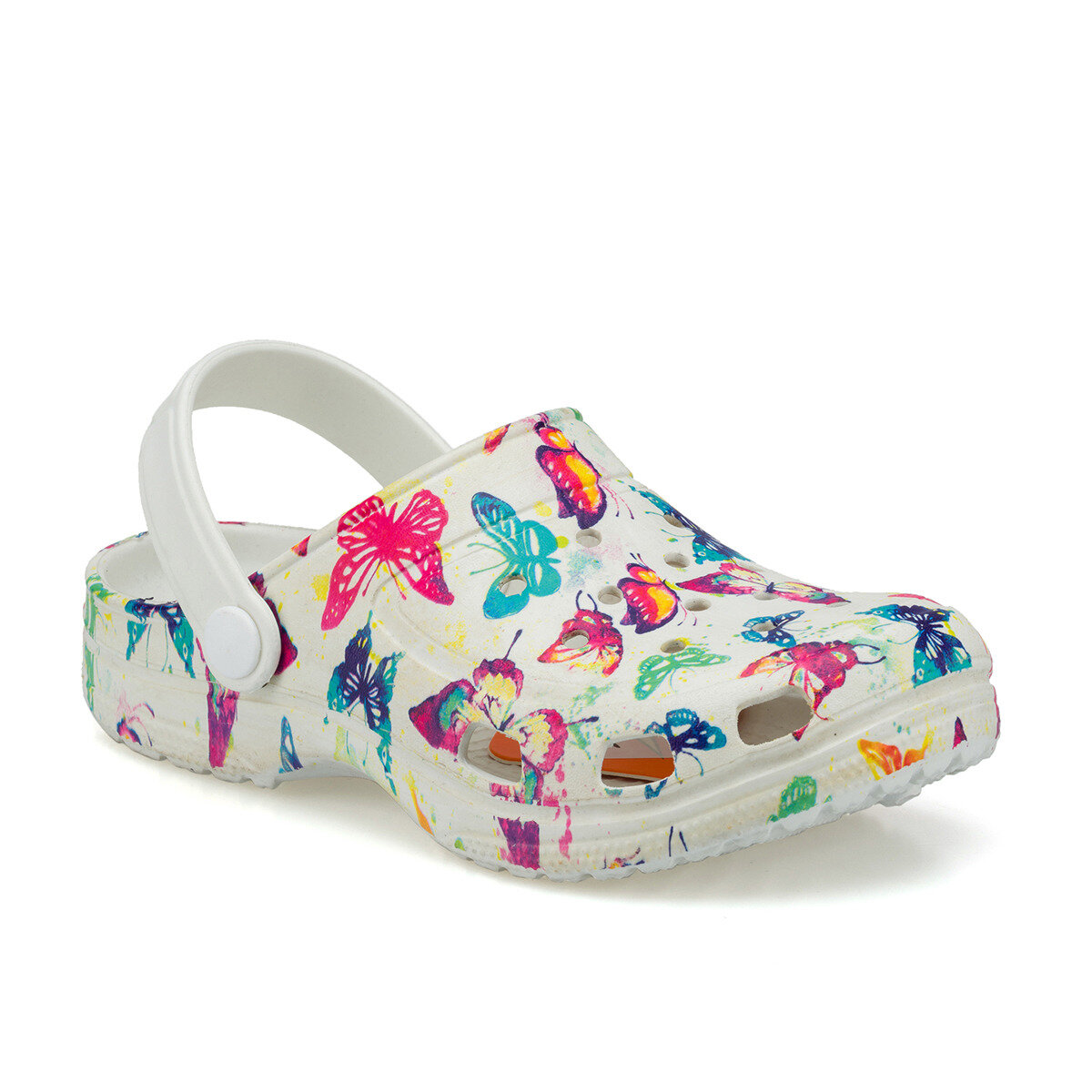 FLO FROG PRINT White Female Child Sea Shoes KINETIX