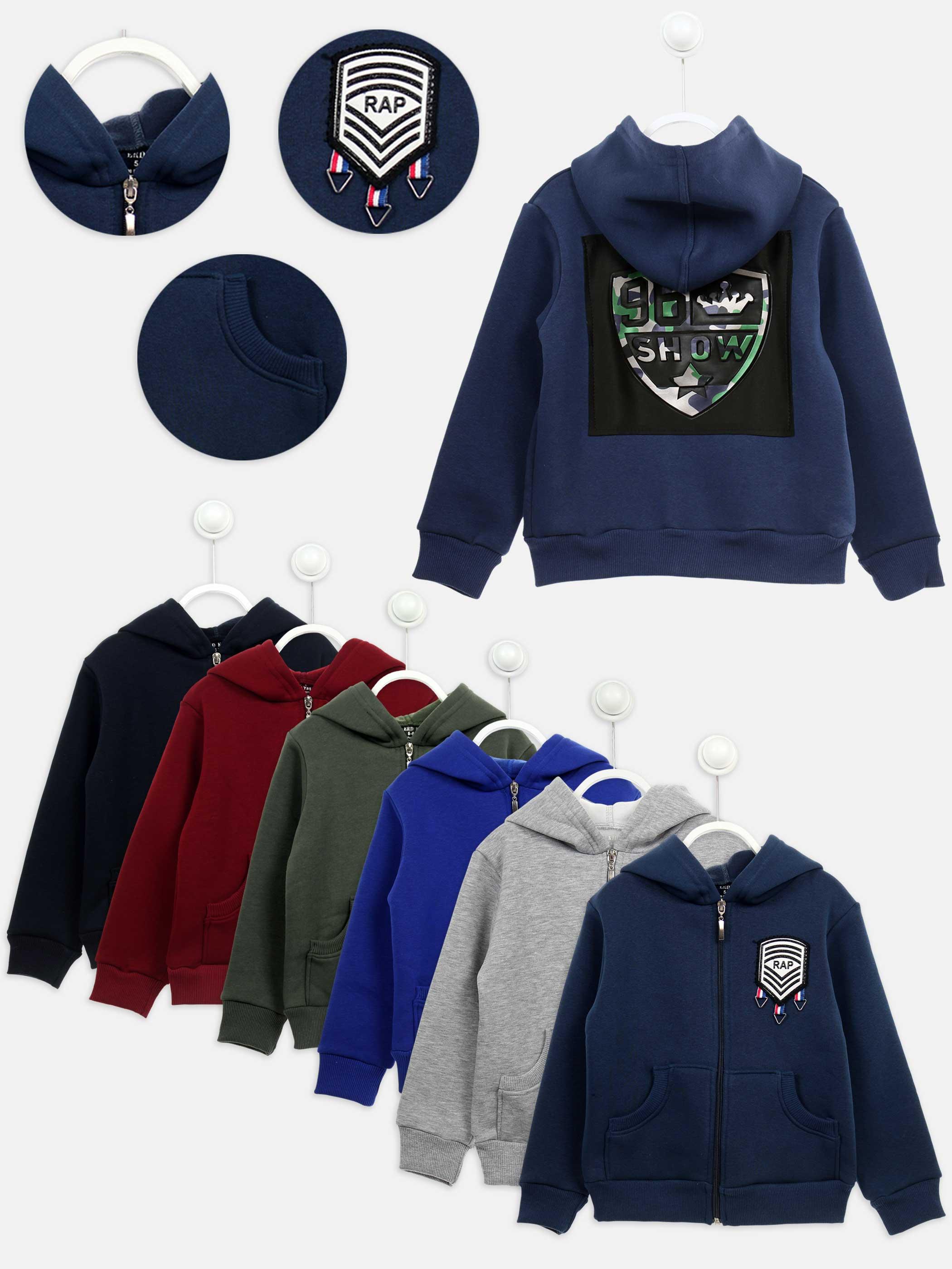 2020 New Spring Autumn Teenage Boy  Children Clothes Cotton Hooded Inside Fleece Sweatshirt Children Casual Sports Wear Models