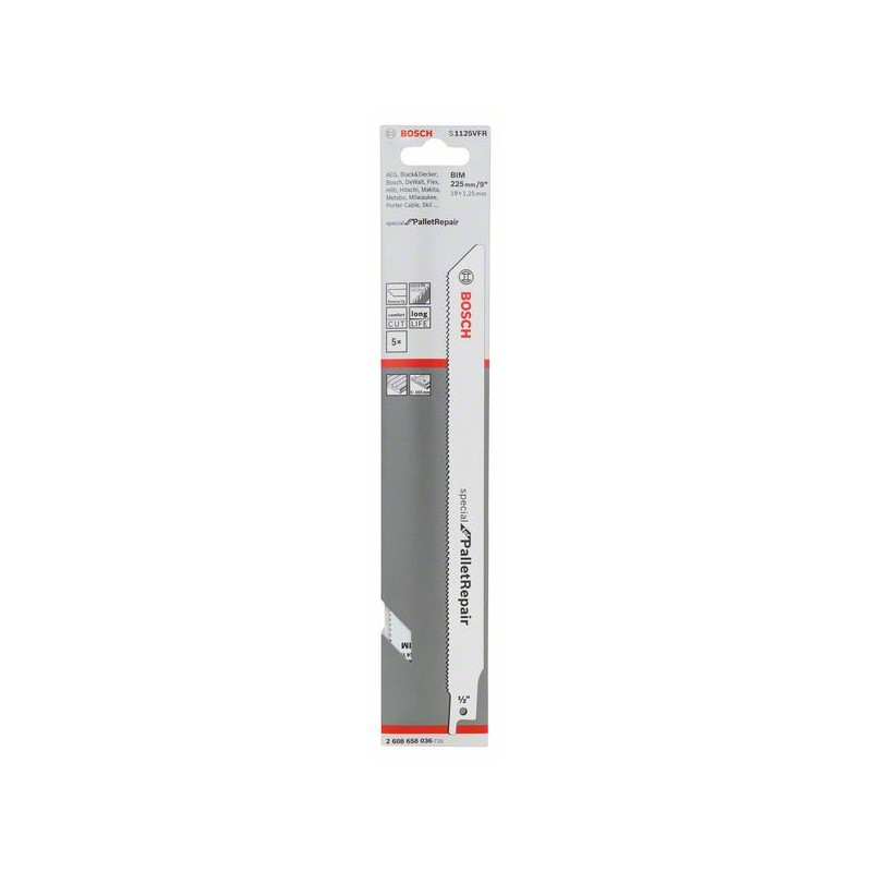 BOSCH-saw Blade Sable S 1125 VFR Special For Pallet Repair