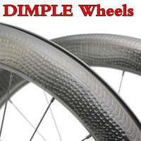 45/50/58/80 wheels road bike carbon surface dimple 700C tubular/clincher special brake 25mm wide rims golf wheelset bicycle